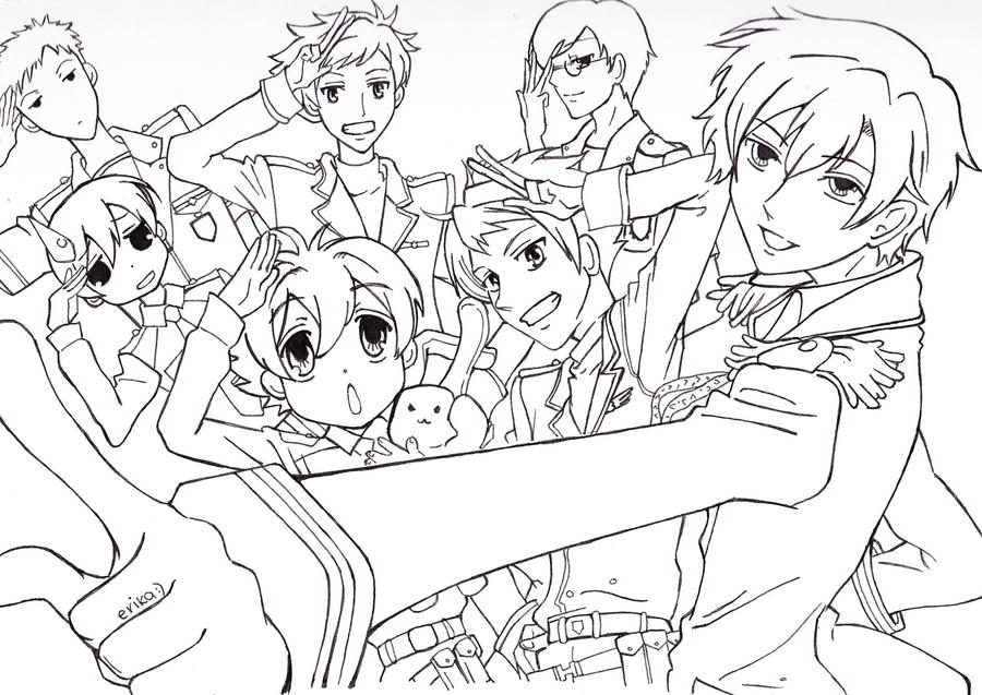 ouran highschool coloring pages - photo#8