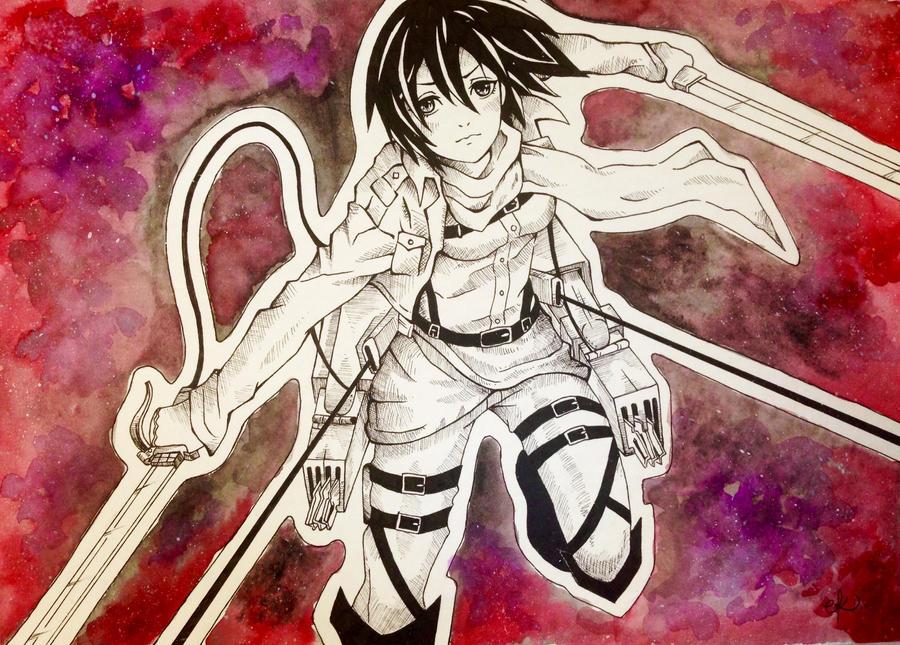 Mikasa - Attack on Titan by PeaceByPiece95