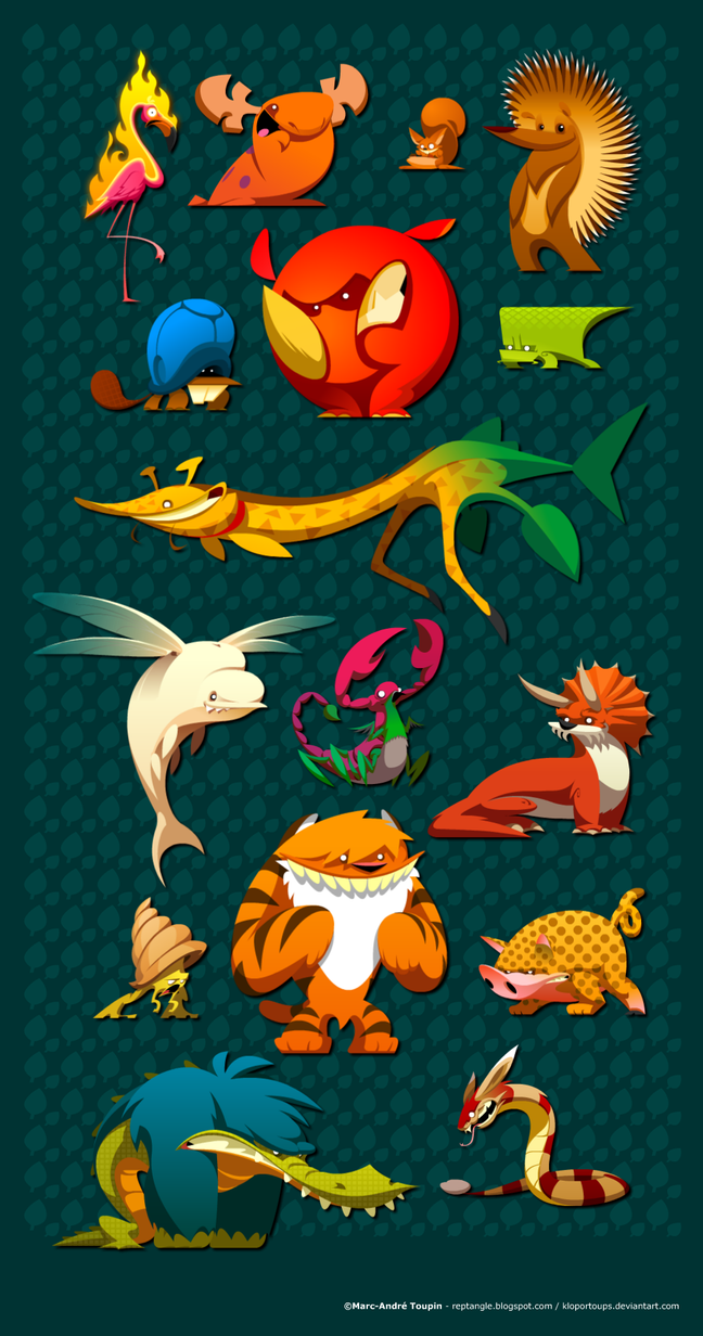 Flanimals of 2009 by KloporToups