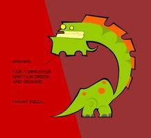 greenandorangeosaurus by KloporToups