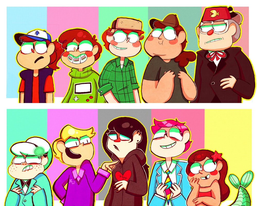 Gravity Falls genderswaps by Caramelkeks on DeviantArt