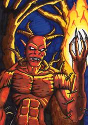 Fire Demon 1 by AParasiticCyst