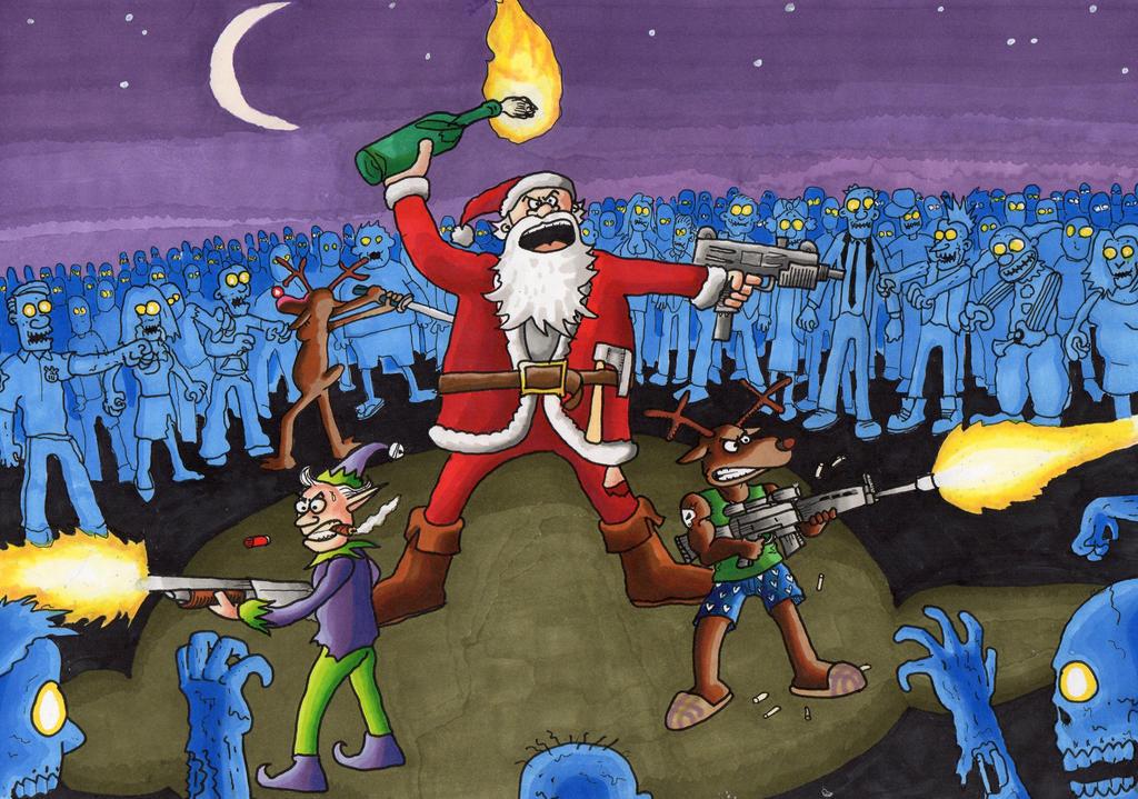 Santa Vs The Dead by AParasiticCyst