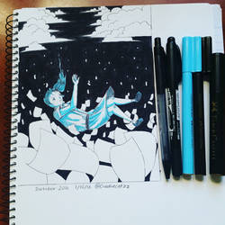 Inktober2016 day1 by creativecatzz