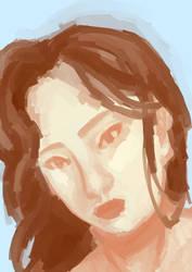 Portrait of idk who by creativecatzz