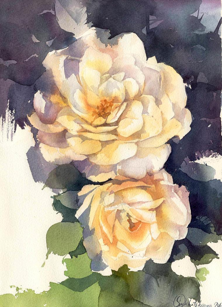 Flowers-sketch by Sukhotskaya
