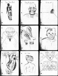 Dark Art Set 28 Working Sketches by devilmanozzy