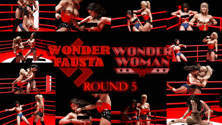 Wonder Woman Vs Wonder Fausta - Round 5 by rustedpeaces