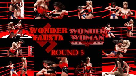 Wonder Woman Vs Wonder Fausta - Round 5 by rustedpeaces