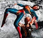 Superwoman overhead defeat by rustedpeaces