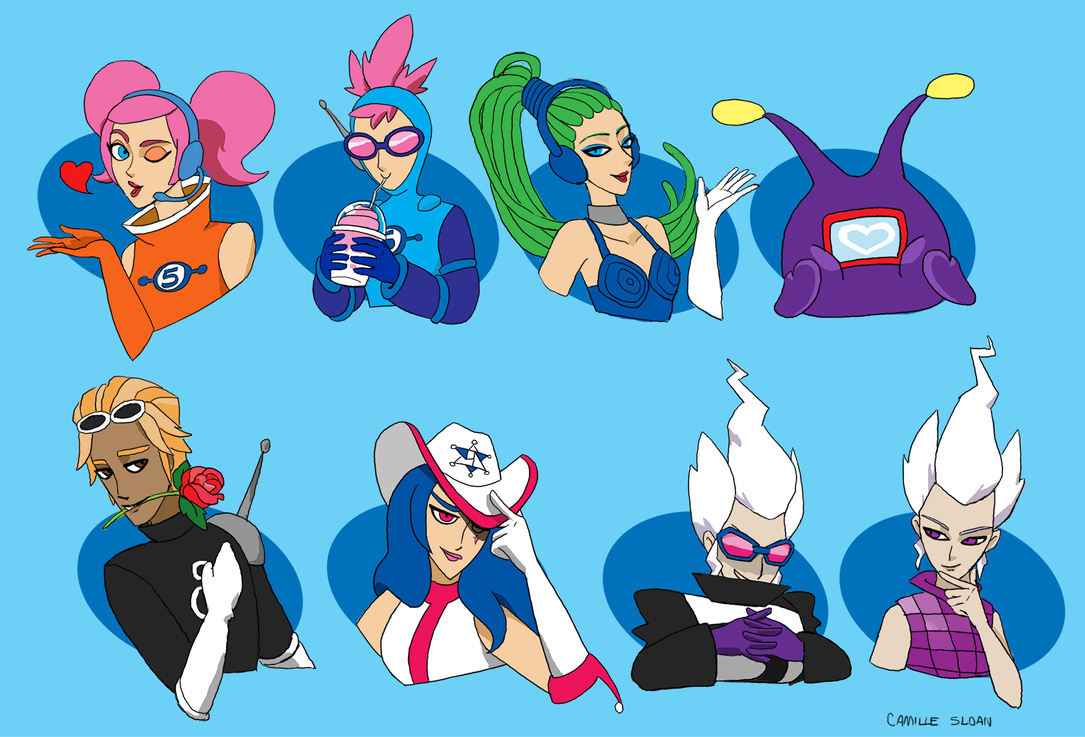 space channel 5 characters by camb0t on deviantart