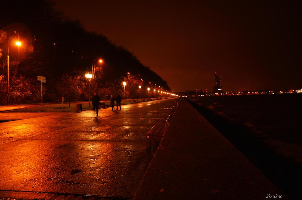 Gdynia at night by kizukoo