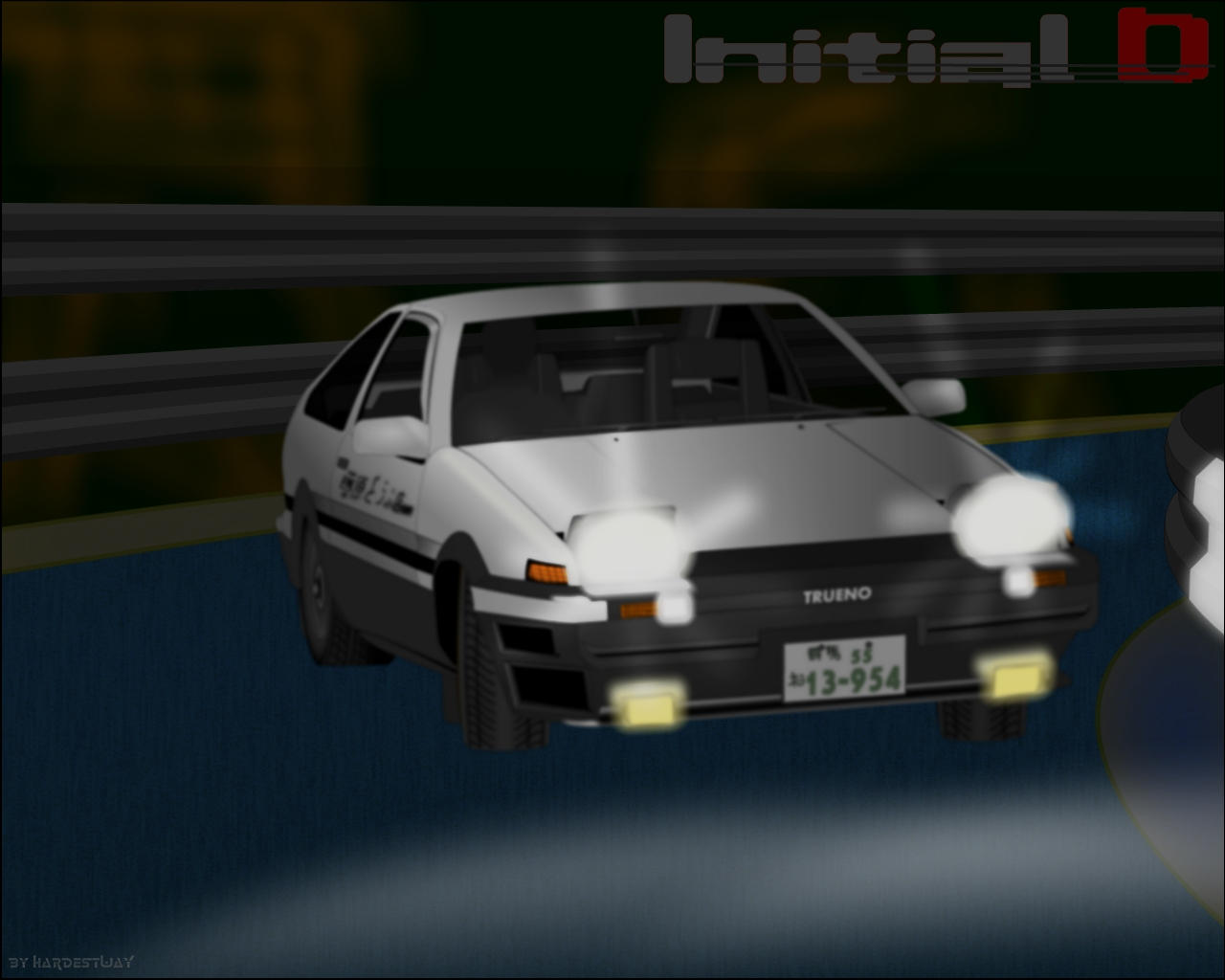 wp initial d trueno ae86 by hardestway on deviantart. Black Bedroom Furniture Sets. Home Design Ideas