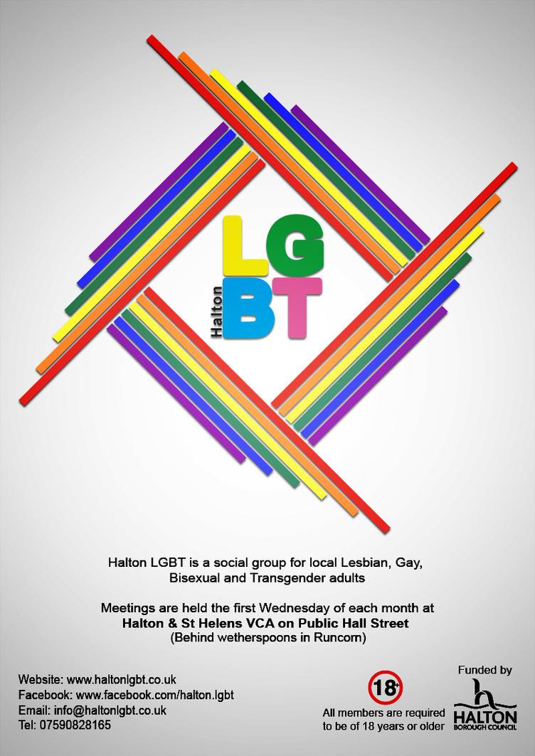 Halton LGBT poster by E-N-H