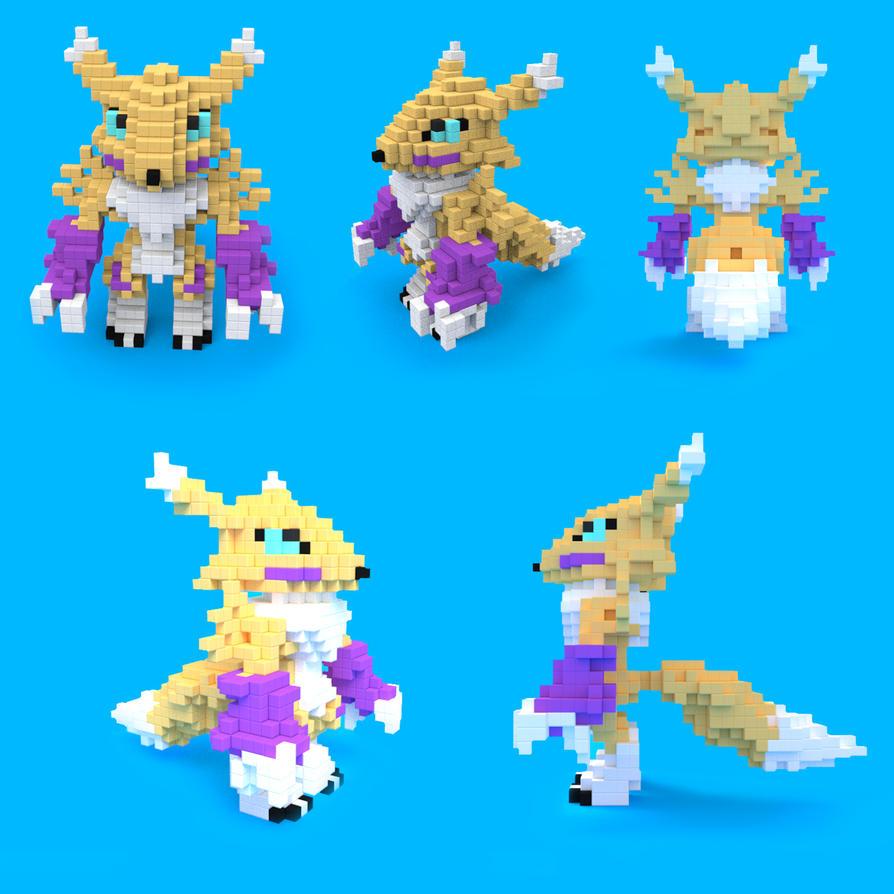 Pixel renamon by gurudJ