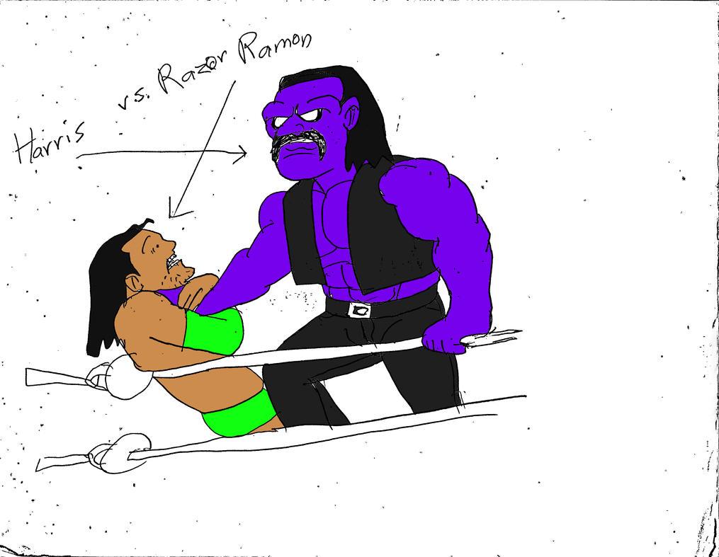 Harris vs Razor Ramon by reg92