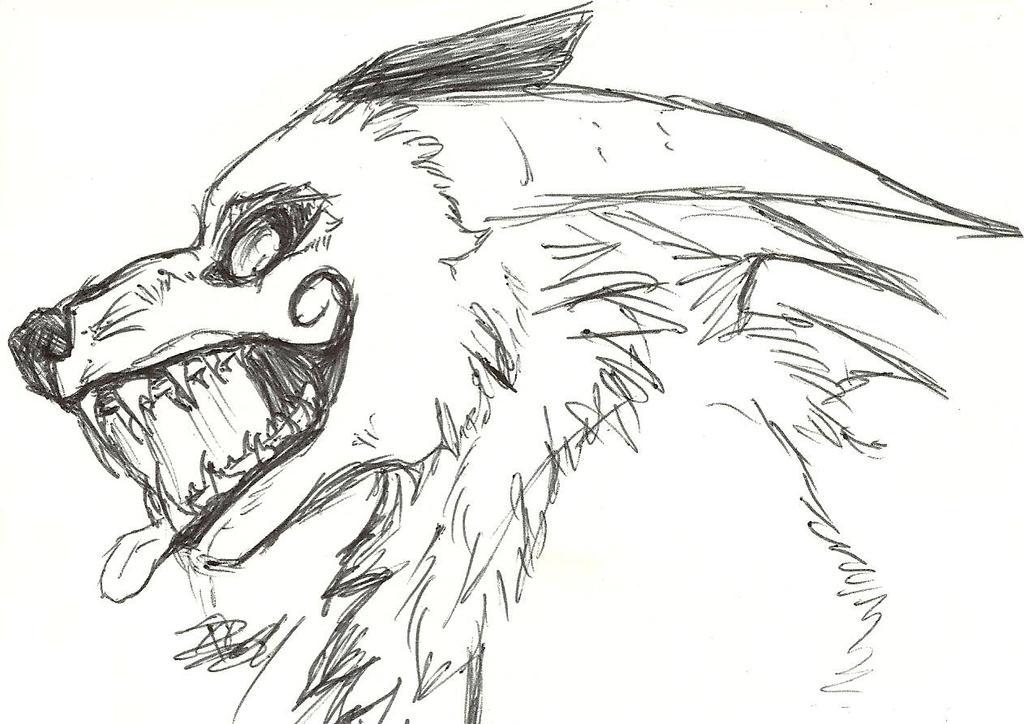 Despair Demon-wolf headshot by HawkfrostsAvenger on DeviantArt