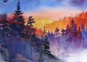 Alaska at Sunset by Krshtl