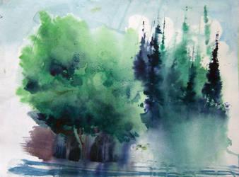 Emerald Lake by Krshtl
