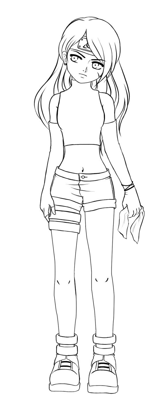 Line Art Character : My character line art by mystical enigma on deviantart
