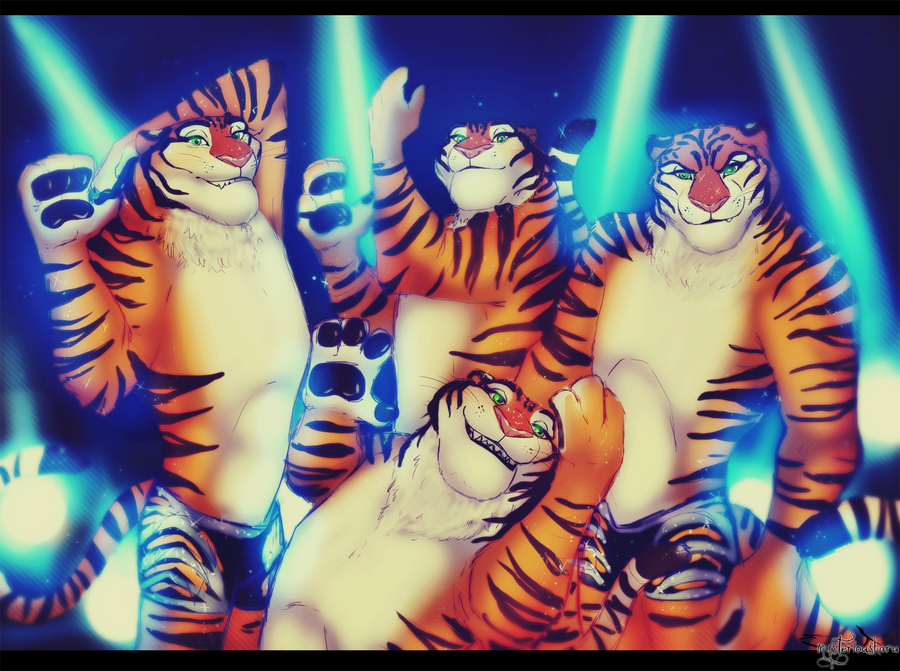 https://mysteriousharu.deviantart.com/art/Zootopia-Gazelle-Tigers-Dancers-614698412