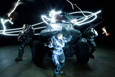 Halo Reach Noble Team by arturodelmar