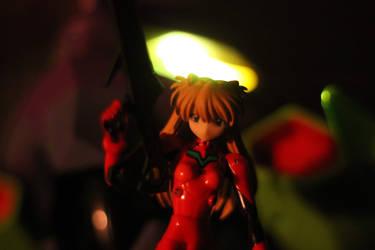 Eva 01 and Asuka by arturodelmar