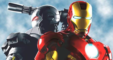 Iron Man and War Machine by predator-fan