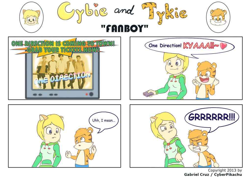 Cybie and Tykie - Fanboy by CyberPikachu on DeviantArt