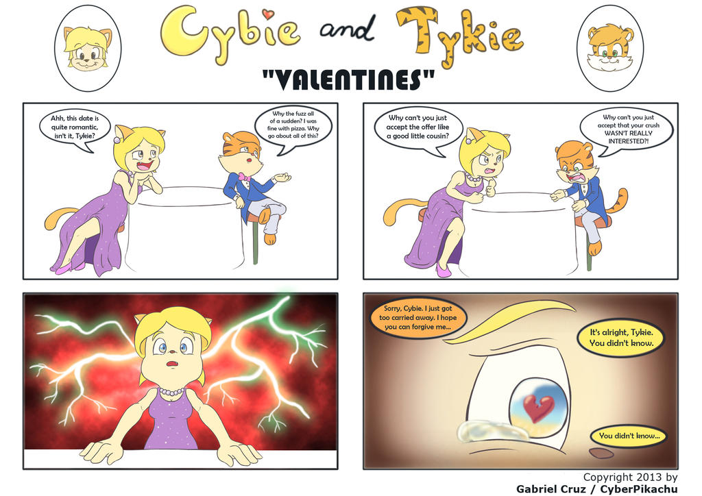 Cybie and Tykie - Valentines by CyberPikachu on DeviantArt