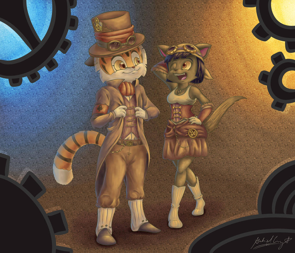 Lackadaisy - Steampunks by CyberPikachu