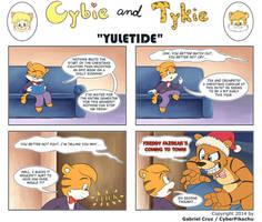 Cybie and Tykie - Yuletide by CyberPikachu