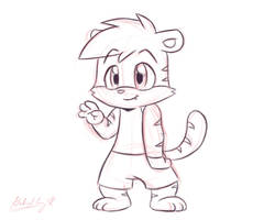 Tykie Doodle (Different Style) by CyberPikachu