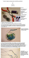 Tutorial: Wire-crocheting necklace
