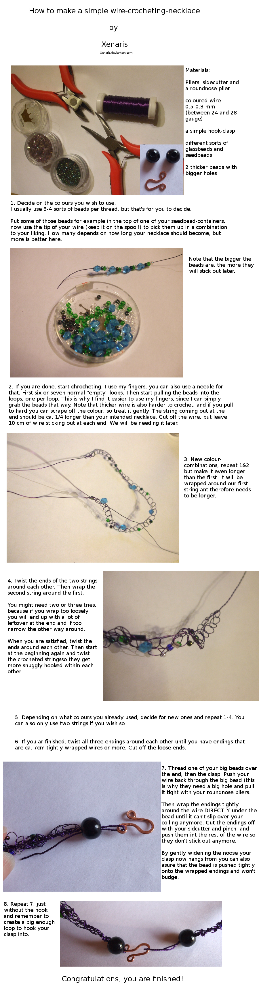 Tutorial: Wire-crocheting necklace by Xenaris on DeviantArt