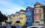 Victorian Houses, San Francisco by xephera