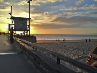 Venice Beach Sunset by xephera