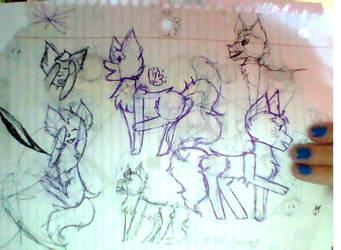 Random doodle dump by StarlyMoon