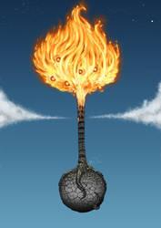 fire tree by FedericoAg