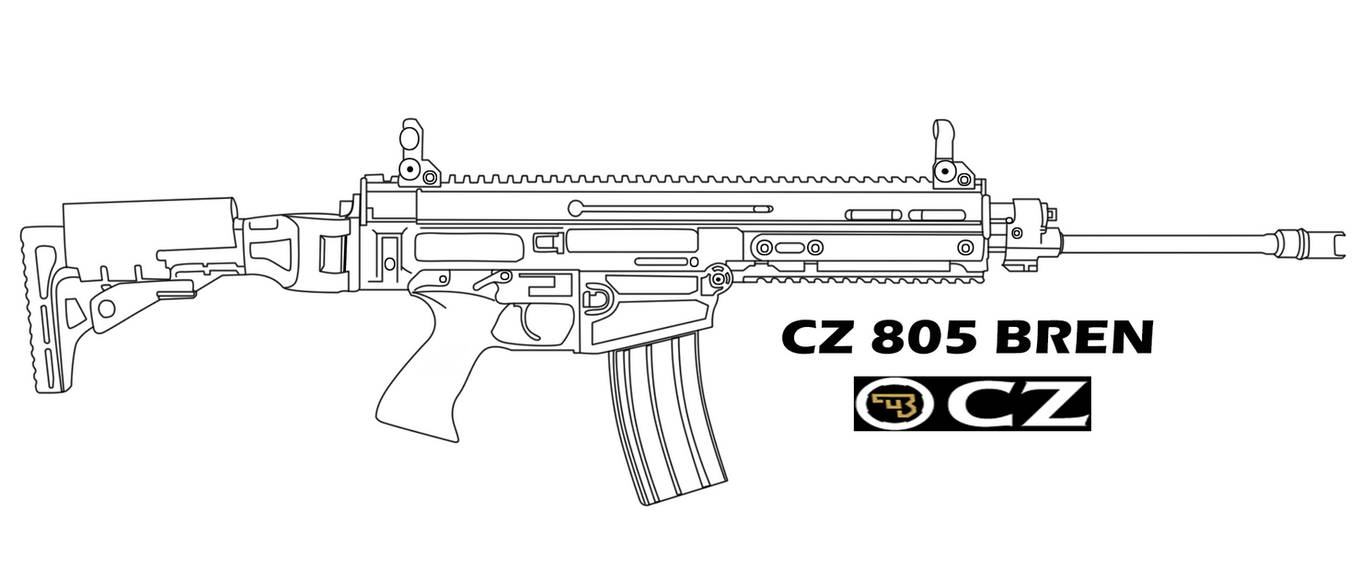 8401fd865 CZ 805 BREN Line Art by HexagonForce on DeviantArt