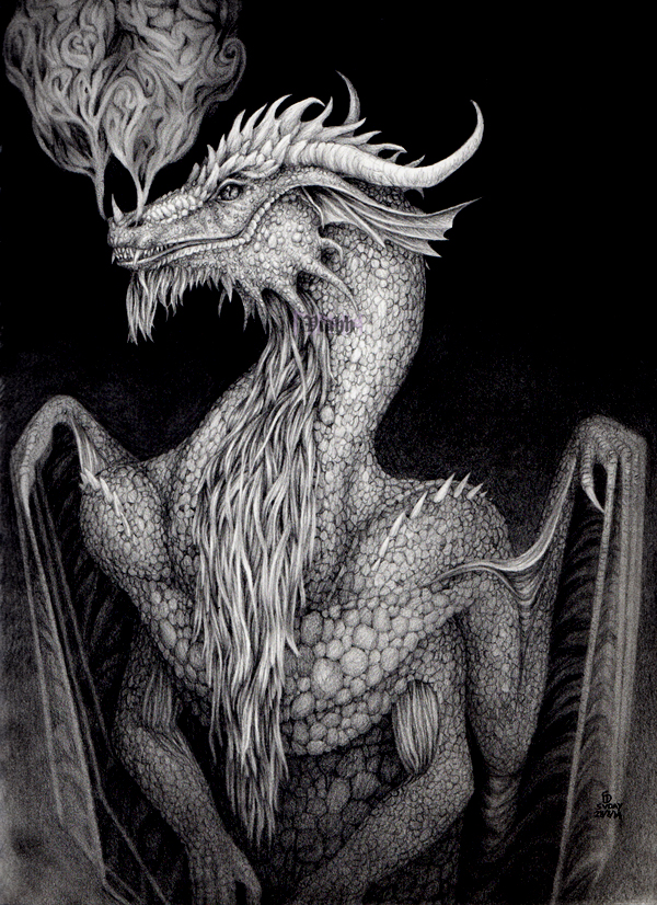 Grinning dragon by xHideFromTheSunx