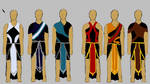 Upper Army-Four Generals+Two Commanders concepts by Amasteria