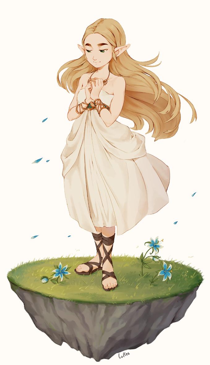 BotW Zelda by lulles