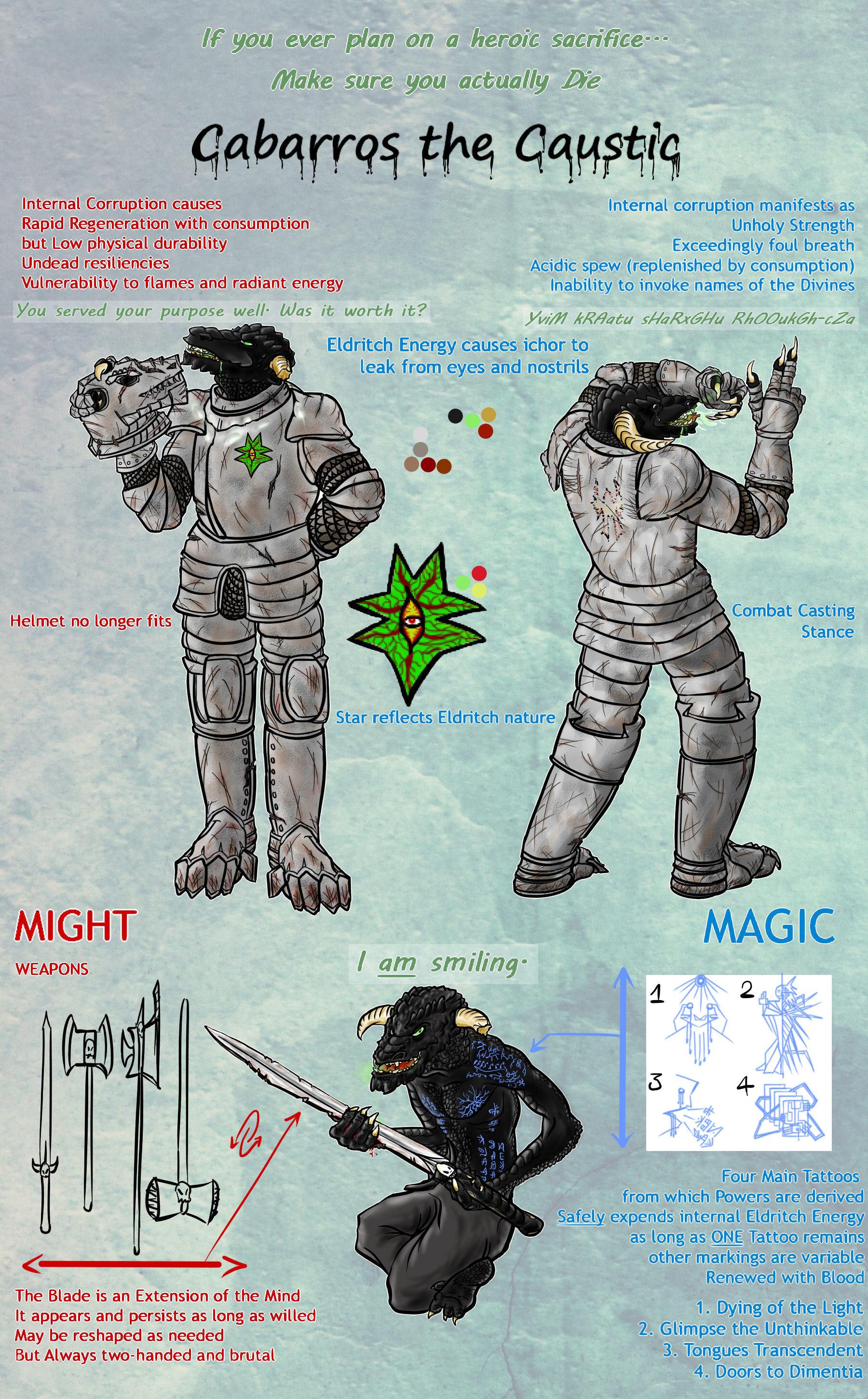 Ref Sheet: Cabarros the Caustic