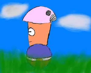 Mushroom Farmer in the grass