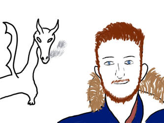Clymm portrat with dragon