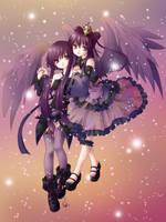 Purple Twins by Nefis