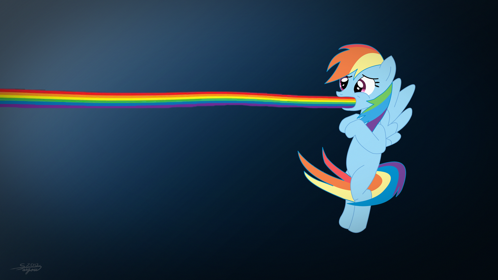 Rainbow Dash - My Little Pony by TheSaigou