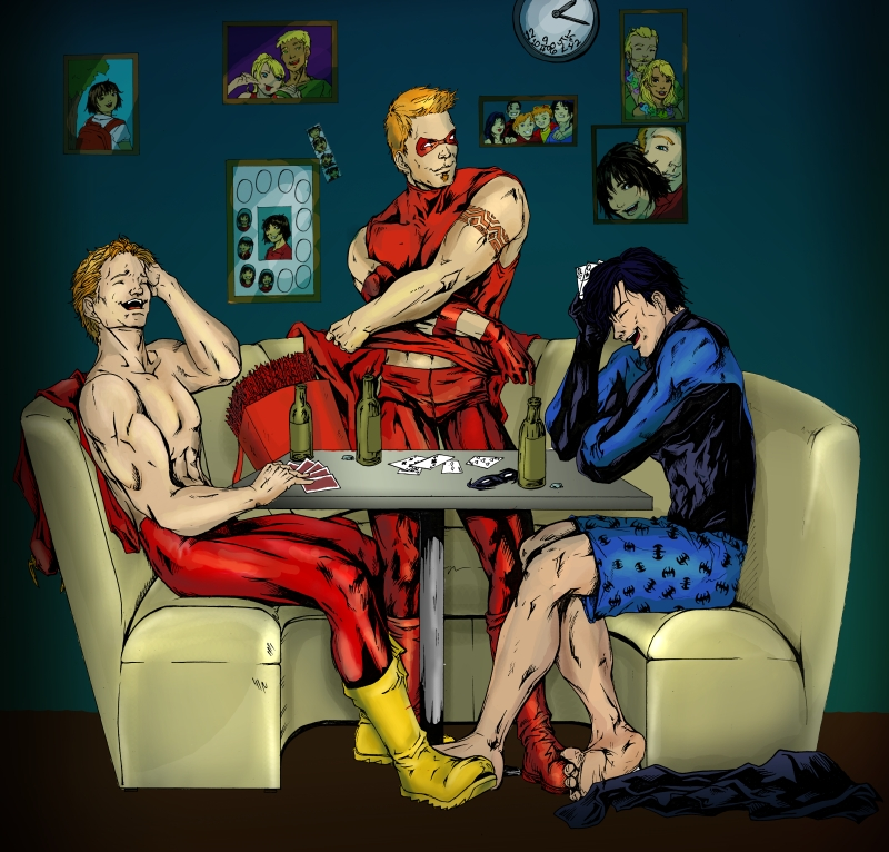 Male only strip poker