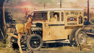 Jack Daniel's Pin-up Advertising